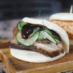 The pork belly bao at Kumino Restaurant makes an excellent on-the-go lunch.