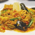 Les Bizous specializes in fusing French cuisine with a variety of influences, perhaps in no more satisfying fashion than the Saffron Paella.