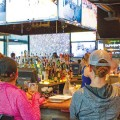 It's impossible to not see the game while having a drink at Rookies Sports Lodge.
