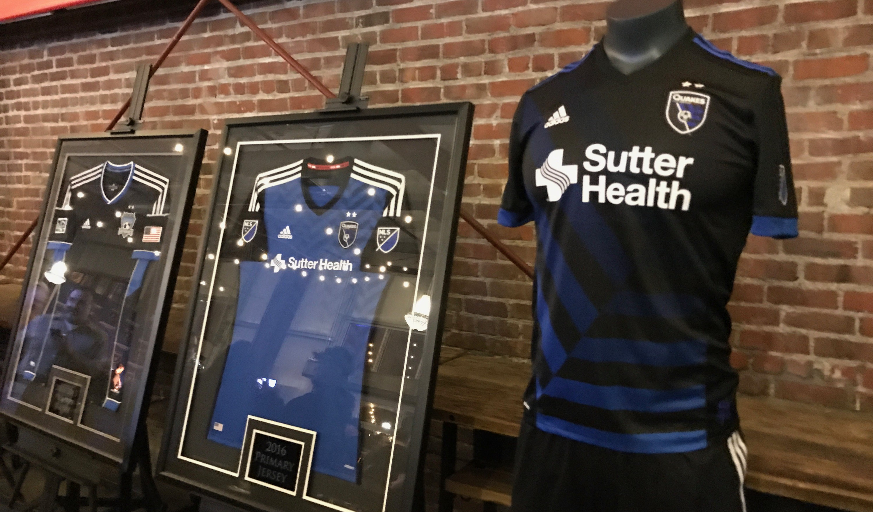 The San Jose Earthquakes on Thursday unveiled their new black kit for the upcoming season. (Photo by Benjamin Siepak)