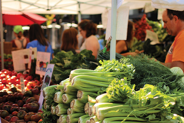 Farmers markets put the fruits of their labor on display.