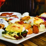 The eggs benedict at Flights came in three different options of succulent pork. (Photo by John Dyke)