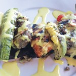 Saratoga Corner Cafe makes a delicious moussaka dish with béchamel sauce. Photo by Avi Salem.