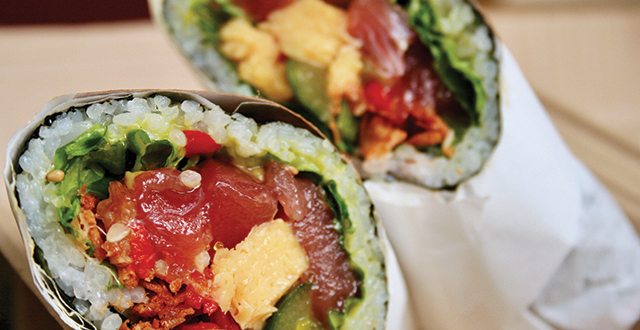 Sushirrito launched a culinary trend with its massive burrito-style sushi rolls. Photo by John Dyke