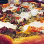 District San Jose has an assortment of pies made for sharing, including a Pistachio Pesto Pizza.