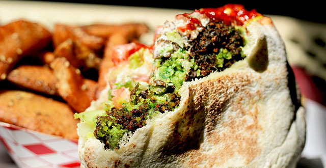 Falafel's Drive-in may not be the healthiest option on this list, but it offers vegetarian nirvana. Photo by John Dyke