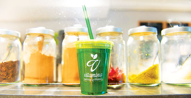 Vitamina keeps its drinks like The Green Lorito clean by never using additives or concentrates. Photo by Jessica Perez