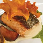 Though the presentation was nice, there was just too much going on, flavorwise, with Morsey's salmon filet. Photo by Scott Carroll.