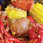 Chowing down on a cauldron of crawfish is a fantastic way to spend the afternoon. Photo by John Dyke