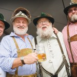 Drinking with friends is fun—but drinking in lederhosen is more fun. Photo by Greg Ramar