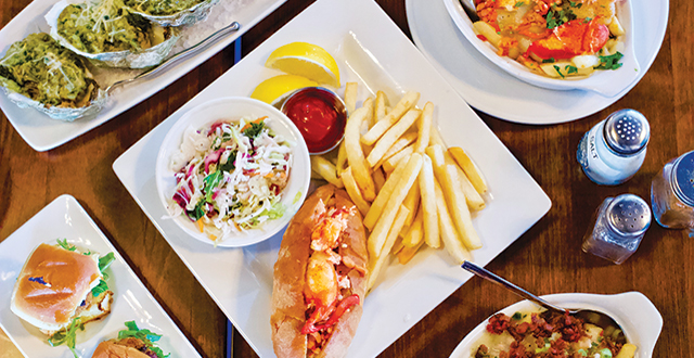 The recently opened Pier 402 serves up lobster rolls, fresh and fried oysters, shrimp burger sliders and hearty chowder fries.