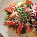 LIGHTEN UP: The heirloom tomato and watermelon salad at Alhambra Irish House is part of an elevated pub menu. Photo by Kim Nies