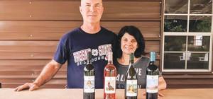 VINE TIME: Paul and Vicki Kermoyan of P&V Winery.
