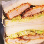 QUALITY COMFORT: The pork tonkatsu sandwich by Kimi Walker-Ahrens' pop-up, Wren, is deceptive in its simplicity.