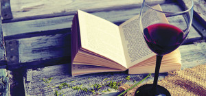 STAR COMBO: A glass of wine and a good book is an ideal way to pass the time.