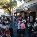 Outdoor dining has become popular at the Post in Los Altos. (Photo by Greg Ramar)