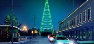Christmas in the Park will be a drive-through event at History Park rather than a winter wonderland that visitors walk through in downtown San Jose (Rendering courtesy of Christmas in the Park)